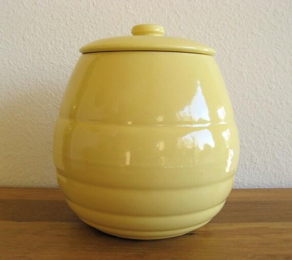 Sale Vintage Bauer Pottery Cookie Jar Yellow Ringware