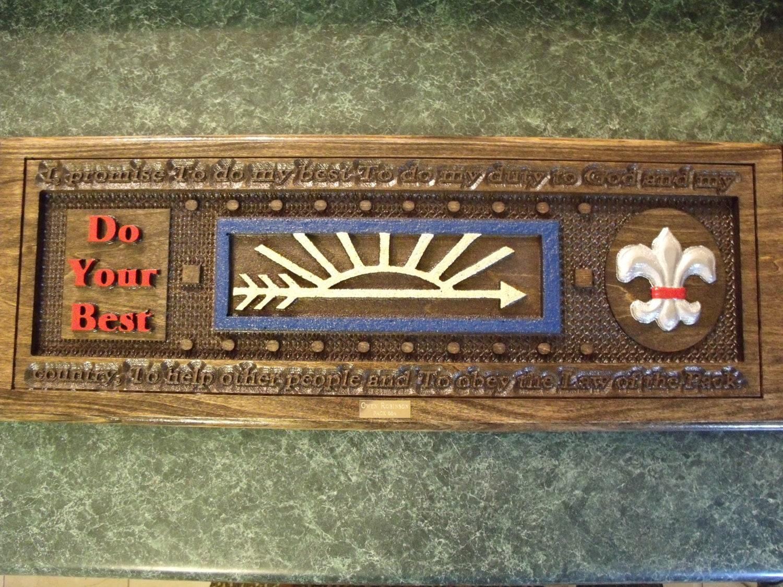 custom carved arrow of light award by dandlleather on etsy. Black Bedroom Furniture Sets. Home Design Ideas