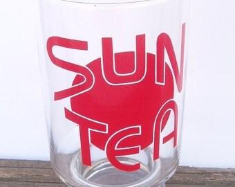 Vintage old skool Sun Tea large Drinking Glass