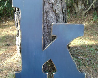 2 foot shabby chic letter home decor rustic large wood letter initials hang on wall or lean in a corner