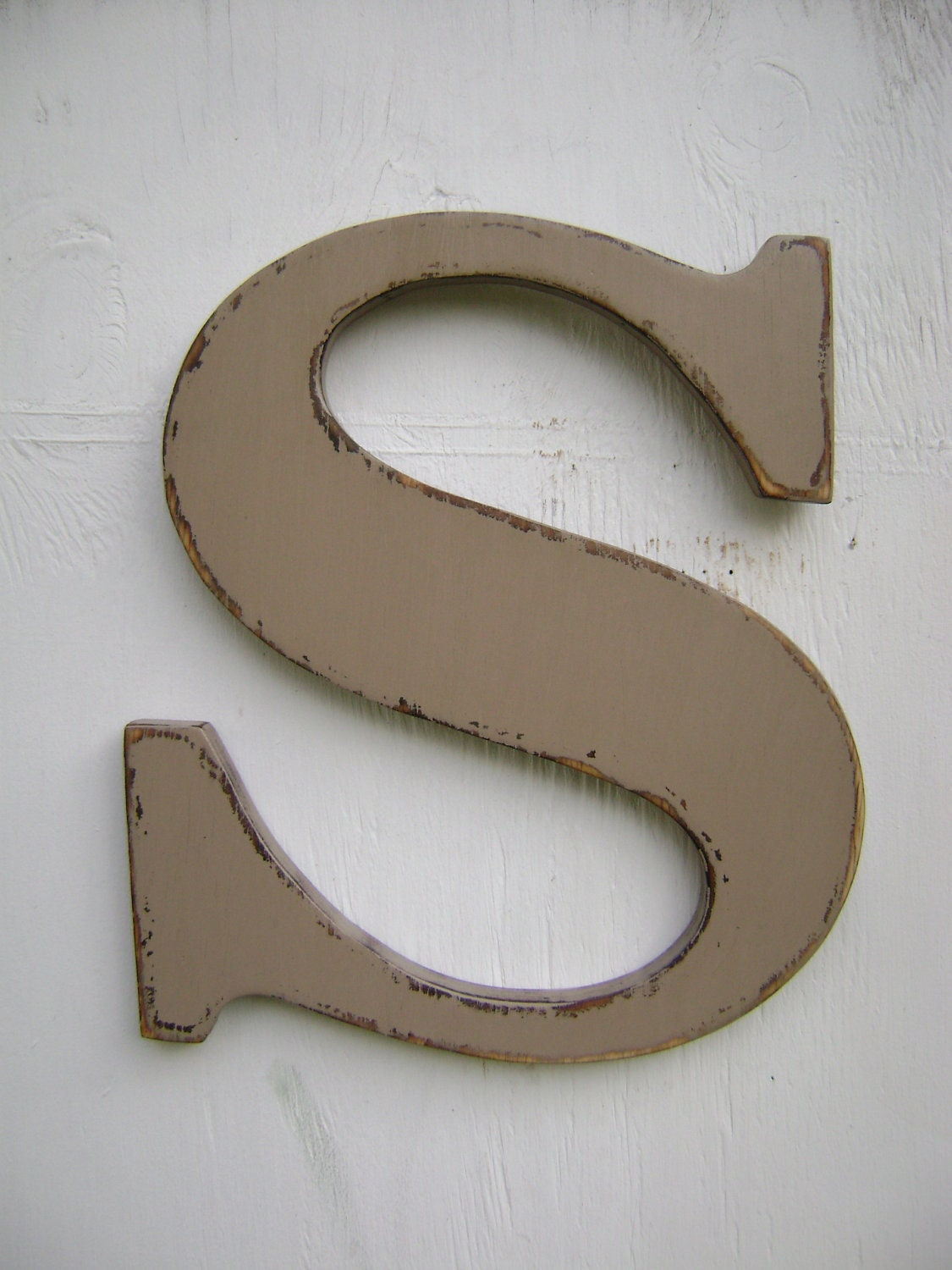 Alphabet wooden letter wall hanging s baby room shabby chic for S letter decoration