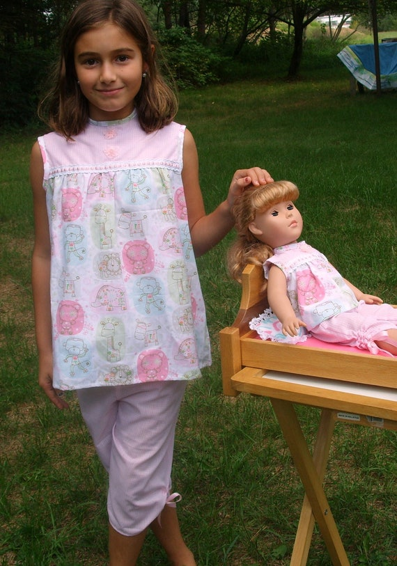 American Girl Doll Clothes Matching Pajamas for You & Your