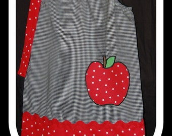 Red Polka Dot Apple Dress