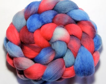 Handpainted Roving - Chautauqua Belle - Falkland Wool, 4 ounces