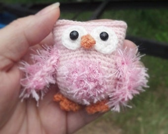 Miniature owl, crochet doll toy, for Kaye Wiggs BJD, MSD doll