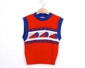 Vintage Knit Cheerleader Vest by HealthTex 1970s - udaskids