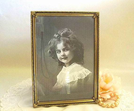 Vintage 1960 S Gold Tone Picture Frame 5x7 By