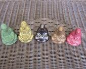 5 Buddhas Ceramic Handmade