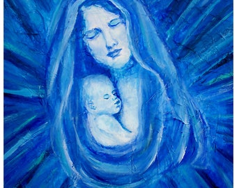 "Mother and Child Print called ""The Protecting Love of A Mother"" by Charlotte Phillips"
