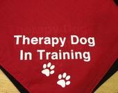 Therapy Dog In Training dog bandana, red