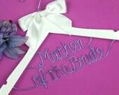 Mother of the bride two lines Hanger, Wedding Hanger, Personalized Custom Bridal Hanger, Brides Hanger, Bride Name Hanger, Bridal Gift