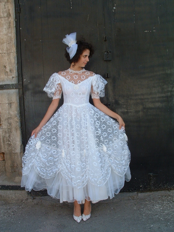 Wedding Dresses  France : Pronuptia wedding dresses designer made in france circa