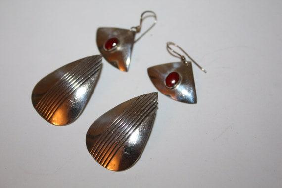 Vintage Earring Sterling 1970s Jewelry 2 pair