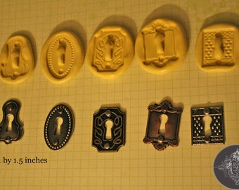 Set of 5 Silicone Molds for Vintage Key Holes