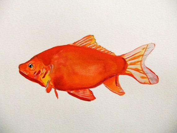 Original Watercolor Painting-GoldFish