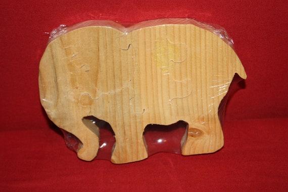 Elephant Wood Scroll Saw Puzzle
