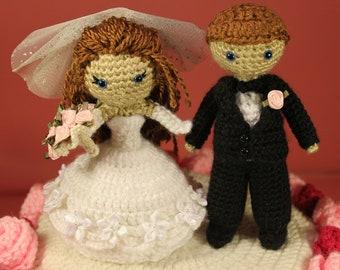 PATTERN Instant Download BUNDLE Dreamy Bride And Groom With Wedding Cake Crochet Amigurumi