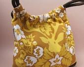 Woodland Deer Yellow and Gold Forest Shoulder Bag
