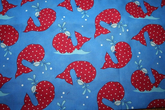 Sailor Whale Fabric