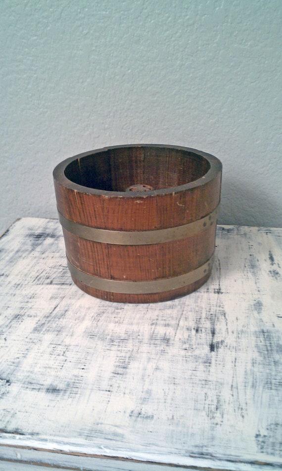 Vintage wooden nut barrel