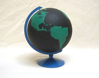 Chalkboard project globe hand painted vintage globe