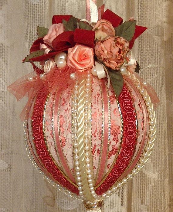 Victorian Christmas Decorations: Handmade VICTORIAN CHRISTMAS Ornament / Keepsake