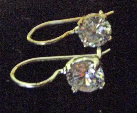 Sterling Silver CZ Earrings Vintage Beautiful