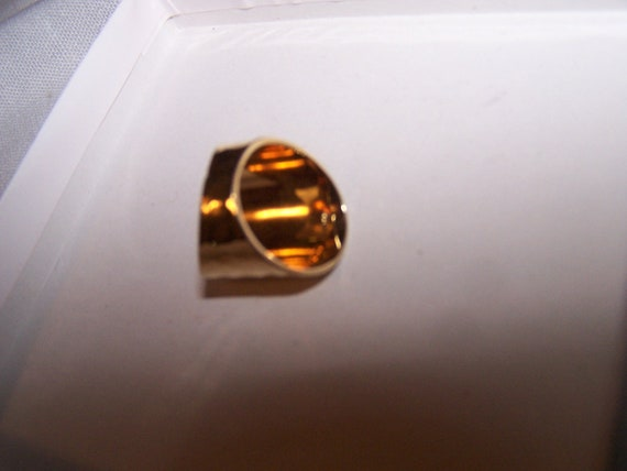 VINTAGE COSTUME JEWELRY Park Lane Goldtone Wide Ring pinky ring