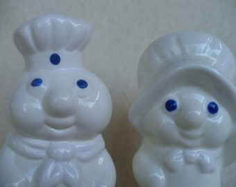 Vintage Mr. amd Mrs. Phillsbury dough boy Shakers
