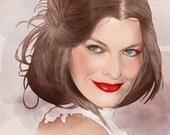 Custom Illustrated Portrait  Art Print 8'' x 11'' or Digital Format