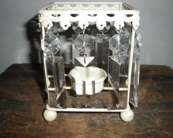 crystal votive holder