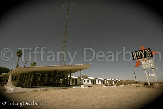 Roy's Motel Cafe - abandoned motel on Route 66 in Amboy, California - desert ghost town - 8x10 color matte print