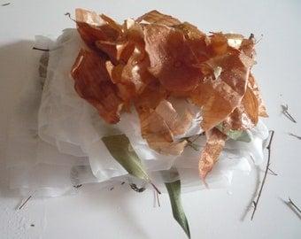 Eco print silk scarf PDF Tutorial.Natural dyeing Silk Chiffon Wrap. Immediate download.Tutorial ecoprint.Silkcraft.Make your own silk scarf.