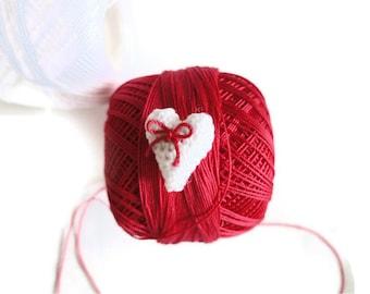 1,5 cm-amigurumi crochet-crocheted heart-white heart -amigurumi heart-jewelry making-miniature heart-making accessories-unique heart