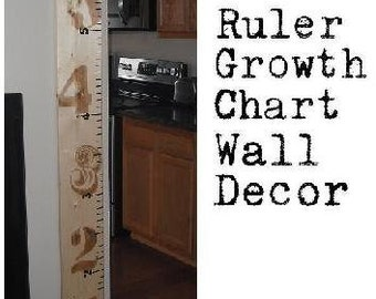 Wooden Ruler Growth Chart  8 inch wide