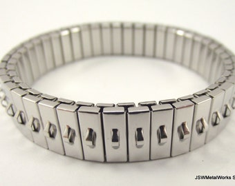 Stainless Steel Bracelet Base, Cha-Cha, Stretch, Single Row, 11 mm