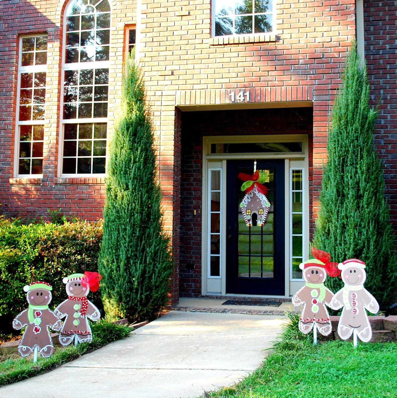 Christmas Yard Decor Gingerbread Man Christmas Decor