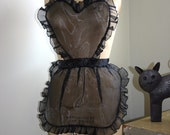 Sexy and Elegant Apron / Sheer organza and ruffles. Women, Bridal shower. Gifts. Special occasion
