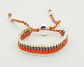 Link Friendship Bracelet -  Gold, Blue, Orange - (One Direction)