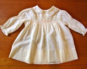 SALE Vintage Pale Yellow Dress (18 months)