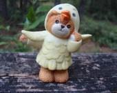 1987 Lucy Rigg Enesco bear wearing chicken costume
