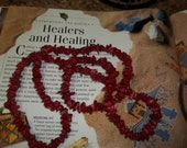 Healing  Native American Red Coral Ceremonial Necklace