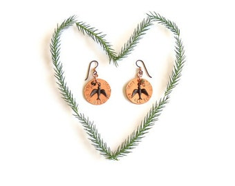 all you need is love bird earrings // stamped jewelry