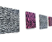 Pink Zebra Diva Fabric Wall Art