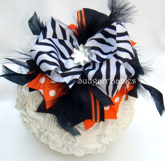 Halloween Boutique Bow - Halloween Hairbow - Over the Top Bow - Boutique Headband - Hairbow