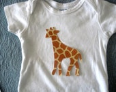 Giraffe Iron On Applique