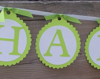Simple Sentiment - Paper Party Banner - Choose Your Color - Happy Birthday - Weddings - Baby Showers - Bridal Shower - Anniversary