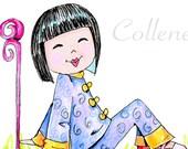 China Adoption Art - with china girl - matted