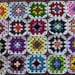 20 Crochet Granny Square Multicolor with White Border / DIY / Handmade  /  No.  TS28
