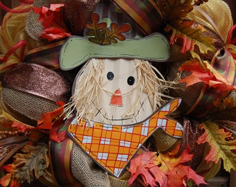 Fall and Halloween Scarecrow Mesh Wreath